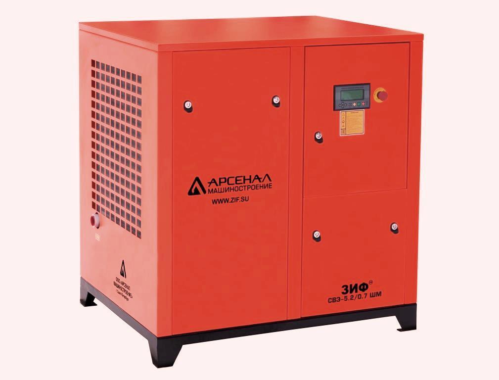 ЗИФ Станция компрессорная электрическая ЗИФ-СВЭ-4,3/1,0 ШМЧ ременная