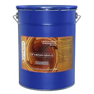 """Износостойкая огнезащитная краска для дерева на органике белая """"ОГНЕЗА-УМ-Д"""" 20 кг."""
