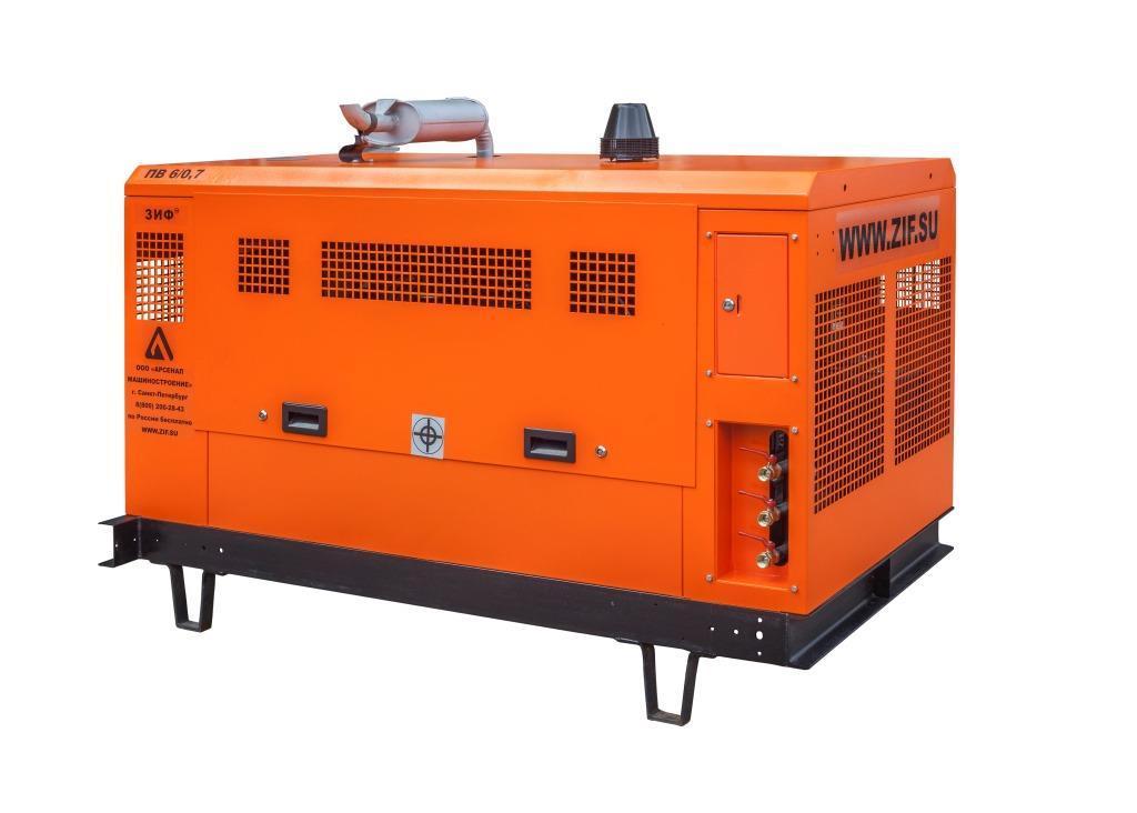 ЗИФ Винтовой дизельный компрессор ЗИФ-ПВ-6/0,7 (на раме)