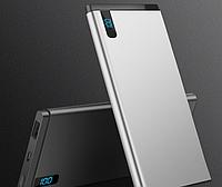 Промо портативное зарядное устройство 10000 Mah (серебро)