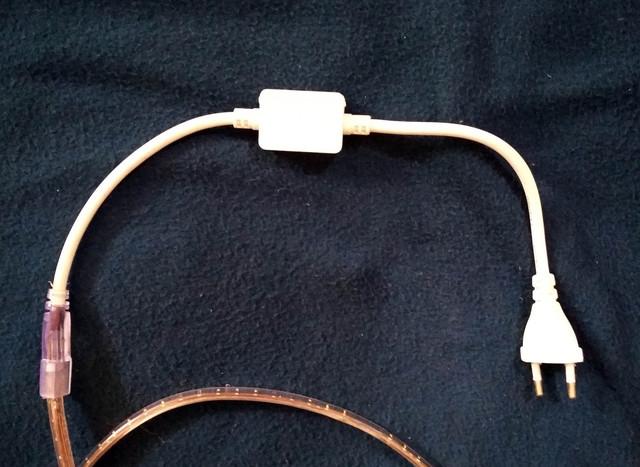 вилка для ленты на 220 вольт