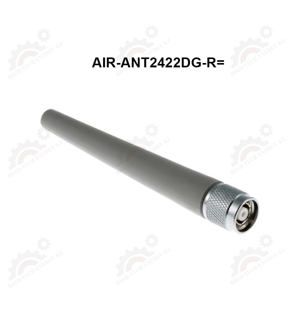 2.4 GHz 2.2 dBi gray non-articul dipole ant w / RP-TNC Qty 1