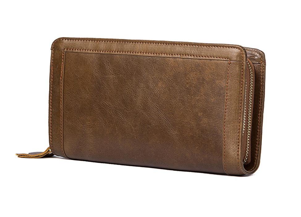 Большой кожаный клатч Marrant Leather. Очень вместительный.