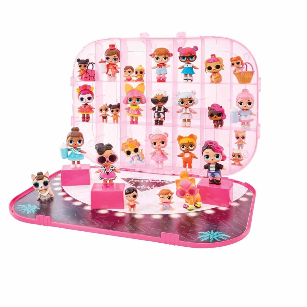 L.O.L. Surprise Fashion Show On-The-Go Hot Pink Storage & Playset. Кейс для хранения кукол ЛОЛ