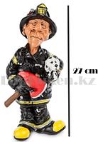Подарочная статуэтка сувенир Пожарный с собакой в каске 27 см