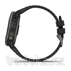 Часы с GPS навигатором Garmin fenix 6X Sapphire Black DLC w/Brwn Leather Band (010-02157-14), фото 2