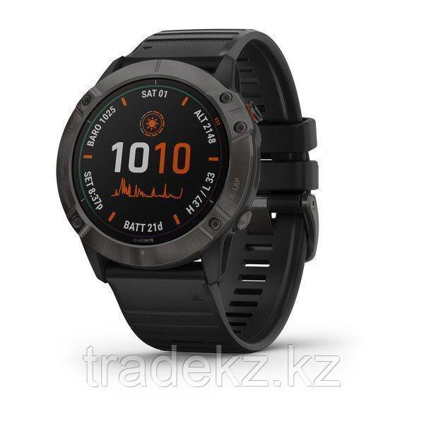 Часы с GPS навигатором Garmin fenix 6X Pro Solar Ti Carbon Gray DLC w/Black Band (010-02157-21)