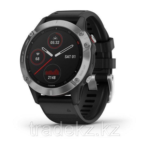 Часы с GPS навигатором Garmin fenix 6 Silver w/Black Band (010-02158-00)