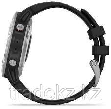 Часы с GPS навигатором Garmin fenix 6 Silver w/Black Band (010-02158-00), фото 2