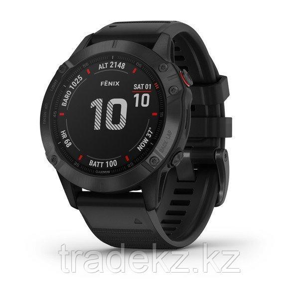 Часы с GPS навигатором Garmin fenix 6 Pro Black w/Black Band (010-02158-02)