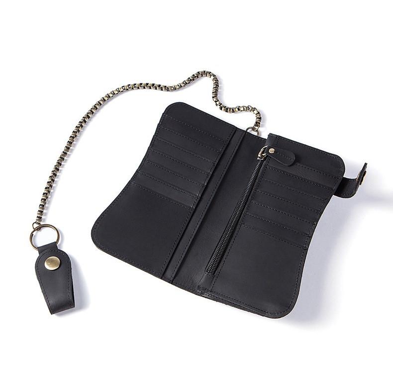 """Кожаное портмоне """"Marrant Leather"""" с цепочкой на ремень. Kaspi RED. Рассрочка."""