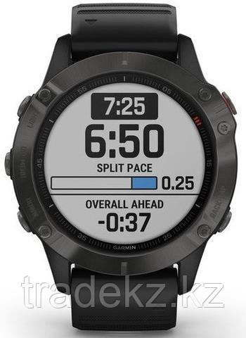 Часы с GPS навигатором Garmin fenix 6 Sapphire Gray w/Black Band (010-02158-11)