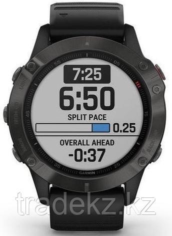 Часы с GPS навигатором Garmin fenix 6 Sapphire Gray w/Black Band (010-02158-11), фото 2