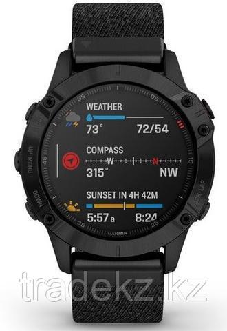 Часы с GPS навигатором Garmin fenix 6 Sapphire Black DLC w/Ntral Nylon Band (010-02158-17)