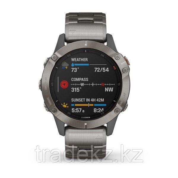 Часы с GPS навигатором Garmin fenix 6 Sapphire Titanium Gray w/Ti Band (010-02158-23)
