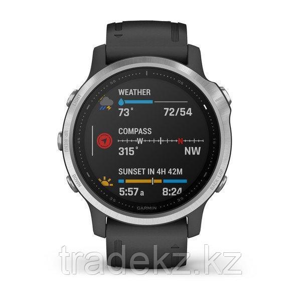 Часы с GPS навигатором Garmin fenix 6S Silver w/Black Band (010-02159-01)