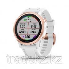 Часы с GPS навигатором Garmin fenix 6S Pro Rose Gold w/White Band (010-02159-11), фото 2