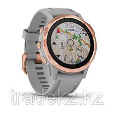 Часы с GPS навигатором Garmin fenix 6S Sapphire Rose Gold w/Gray Band (010-02159-21), фото 3