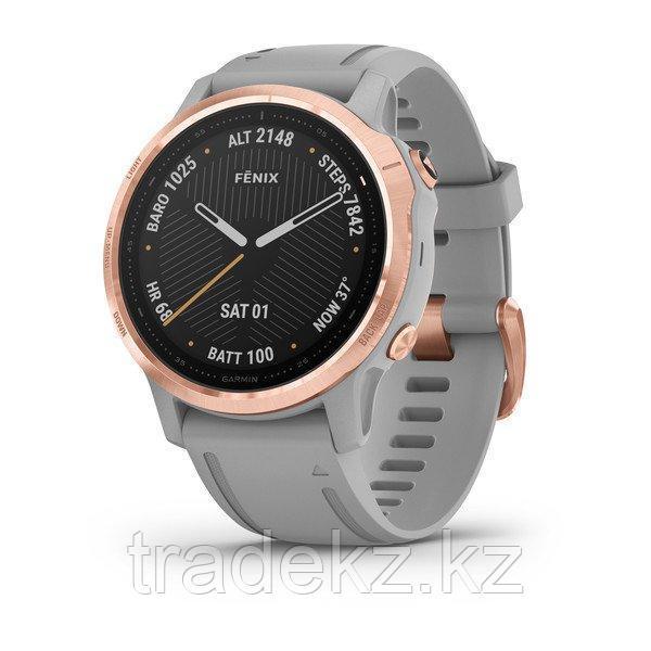 Часы с GPS навигатором Garmin fenix 6S Sapphire Lt Gold w/Shale Suede Band (010-02159-40)