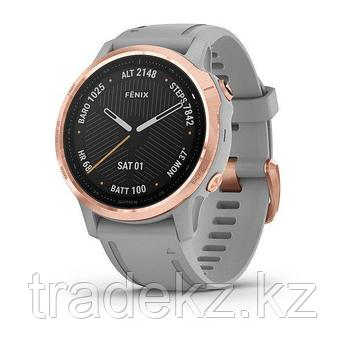 Часы с GPS навигатором Garmin fenix 6S Sapphire Lt Gold w/Shale Suede Band (010-02159-40), фото 2