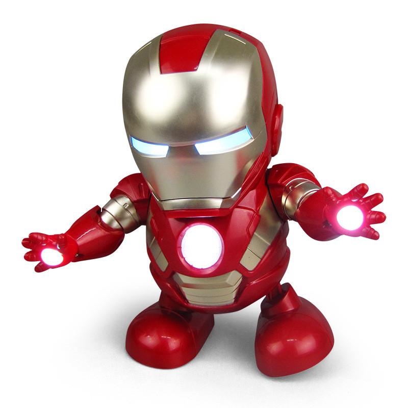 Танцующий робот игрушка Железный Человек - танцует и светится под музыку. Мстители  Iron Man dancing robot