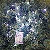 LED гирлянда на батарейках - 3 метра, 30 диодов, белый свет, светит постоянно