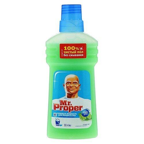 """Моющая жидкость для уборки """"Mr. PROPER Универсал Лайм и мята"""" 0,5 л."""