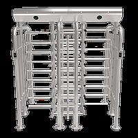 Полноростовой турникет двухпроходной ZKTeco FHT2422D, с биометрическими считывателями и контроллером, фото 1
