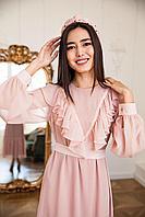 Платье Гакку розовое