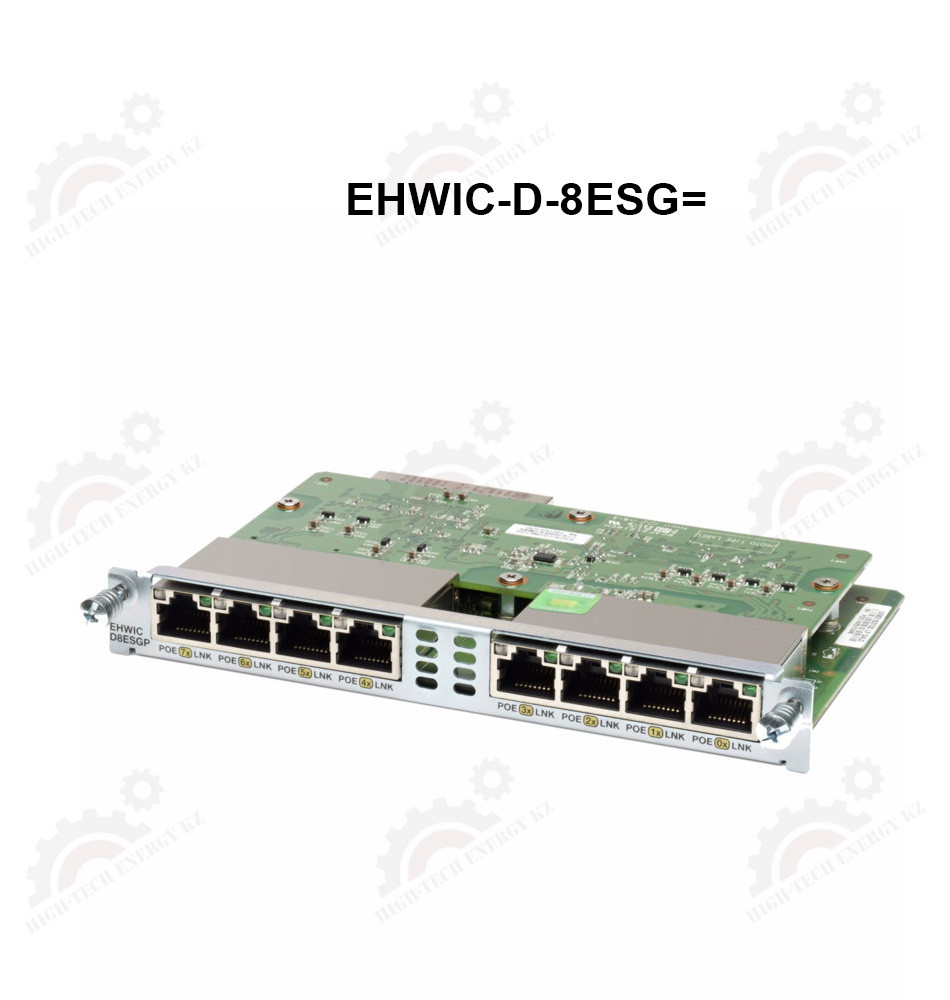 Eight port 10/100/1000 Ethernet switch interface card