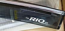 Ветровики (дефлекторы окон) на KIA RIO год выпуска 2007 и выше гг. на 4 двери- окна