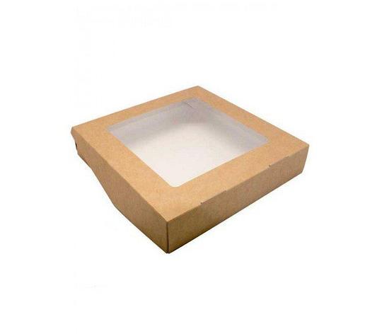 """Коробка """"DoEco"""" 200х200х40мм ECO TABOX 1500 GL , с окном, коричн., 200 шт, фото 2"""