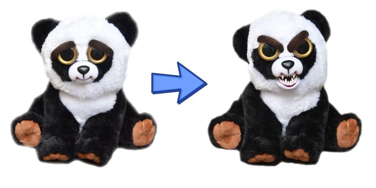 """Мягкая игрушка """"Feisty Pets. Хищники"""" - Панда, меняющий настроение"""