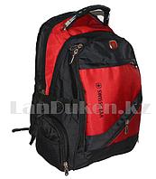 Городской рюкзак SWISSGEAR с USB портом бордовый с круглыми боковыми карманами