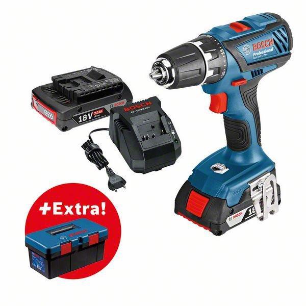 Аккумуляторный шуруповерт Bosch GSR 18-2 LI (2x2,0Ah;C) + BO Toolbox PRO (0615990L29)