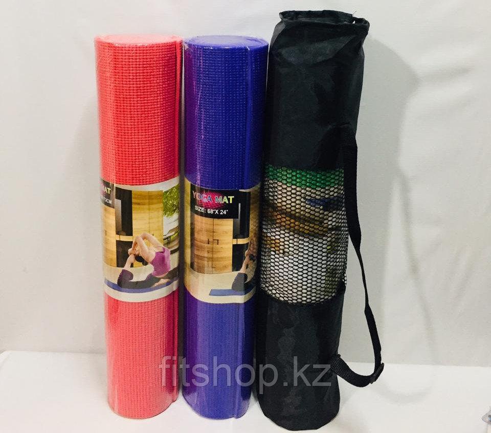 Коврик для йоги (йога мат,каремат) и фитнеса (с сумкой). 8 мм