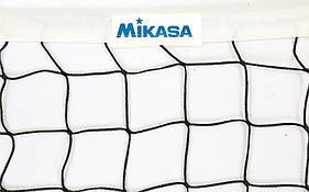 Сетка для волейбола MIKASA (PP 3мм, р-р 9,5×1м, ячейка 10 × 10см, с метал. тросом)