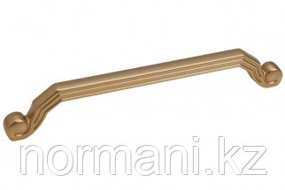 """Мебельная ручка скоба, замак, размер посадки 160 мм, цвет золото матовое """"Милан"""""""