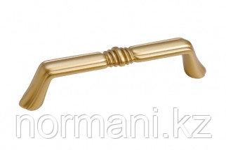"""Мебельная ручка скоба, замак, размер посадки 96 мм, цвет золото матовое """"Милан"""""""