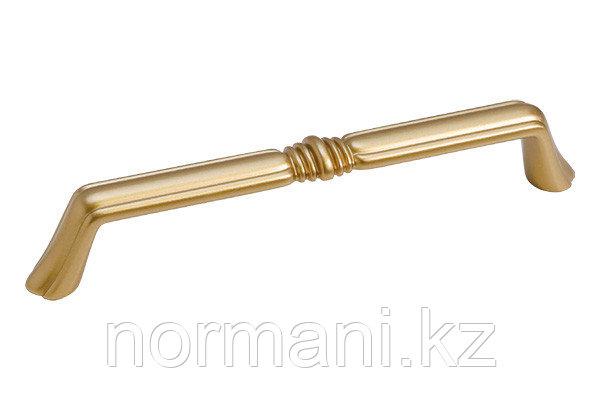 """Мебельная ручка для кухни 128 золото матовое """"Милан"""""""