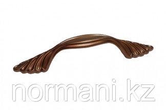 Мебельная ручка скоба, замак, размер посадки 96 мм, цвет медь Сиена