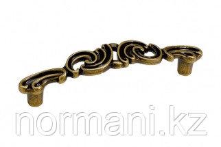 "Мебельная ручка скоба, замак, размер посадки 96 мм, цвет бронза античная ""Флоренция"""