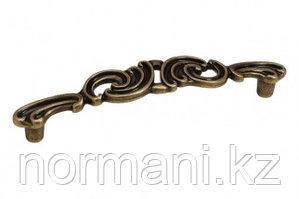 "Мебельная ручка скоба, замак, размер посадки 128 мм, цвет бронза античная ""Флоренция"""