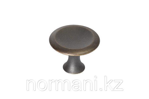 Ручка-кнопка, отделка бронза античная темная