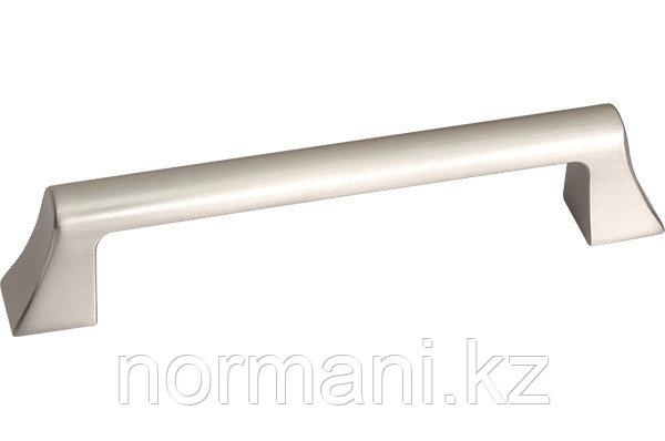 Мебельная ручка скоба, замак, размер посадки 128мм, отделка никель