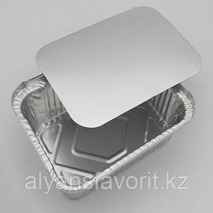 Крышка к алюмминевому контейнеру 201х210 мм. 650 мл. РФ, фото 2