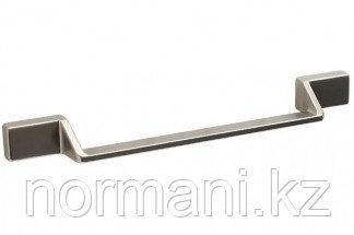 Мебельная ручка скоба, замак, размер посадки 160мм, отделка никель матовый