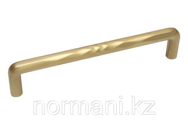 Мебельная ручка скоба, замак, размер посадки 160мм, отделка золото шлифованное