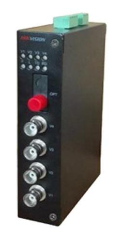 DS-3V04R-AU/720 - 4-х канальный 720р HD-TVI приемник цифрового видео по оптоволокну.