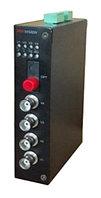 DS-3V04T-A/720 - 4-х канальный 720р HD-TVI передатчик цифрового видео по оптоволокну.